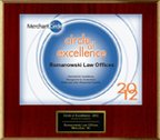 Circle of Excellence 2012 Plaque